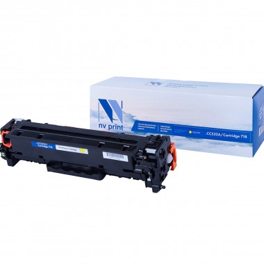 Картридж NV Print CC532A (304A)/ Cartridge 718 для HP/ Canon Yellow/ Желтый